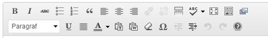 WordPress Varsayılan Görsel Editör Düğmeleri